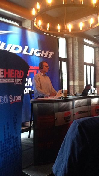 Colin Cowherd - Colin Cowherd during a live broadcast of The Herd at Public House in Chicago, Illinois on July 30, 2014