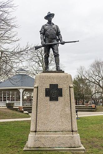 Central Square Historic District (Waltham, Massachusetts) - Image: The Hiker, Waltham Common, Massachusetts