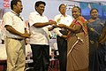 The MLA, Kattumannarkovil, Shri D. Ravikumar felicitated teachers on Teachers Day, at the Bharat Nirman Public Information Campaign, organised by PIB Chennai, at Chidambaram, in Cuddalore, Tamil Nadu on September 05, 2009.jpg