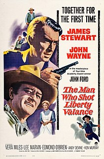<i>The Man Who Shot Liberty Valance</i> 1962 film by John Ford