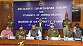 The Minister of State for Home Affairs, Shri Hansraj Gangaram Ahir addressing a group of children from Jammu & Kashmir on Bharat Darshan Tour, organised by the BSF under its Civic Action Programme, in New Delhi.jpg