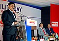 The Minister of State of Power, Shri Bharatsinh Solanki delivering the inaugural address of UTILITY DAY at ELECRAMA 2010 exhibition of Electric Industry, in Mumbai on January 22, 2010.jpg