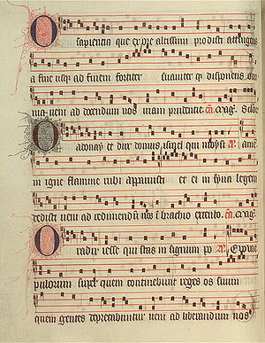 Antiphonary - Image: The Poissy Antiphonal, folio 30v