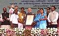 The Prime Minister, Shri Narendra Modi at the launch of Shyama Prasad Mukherji National Rurban Mission, at Kurubhat, Rajnandgaon, in Chhattisgarh (7).jpg