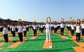 The Prime Minister, Shri Narendra Modi participates in the mass yoga demonstration, on the occasion of the 4th International Day of Yoga 2018, at the Forest Research Institute, in Dehradun, Uttarakhand on June 21, 2018 (2).JPG