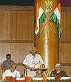 """The Speaker, Lok Sabha, Shri Somnath Chatterjee addressing at the inauguration of a Symposium on """"Anti Defection Law-Need for review"""" at the Presiding Officers Conference, in Haryana Vidhan Bhawan Complex, in Chandigarh.jpg"""