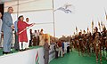 The Union Minister for Panchayati Raj, Youth Affairs & Sports and Development of North Eastern Region, Shri Mani Shankar Aiyar flagging off the National Youth Rally to commemorate First War of Independence 1857.jpg