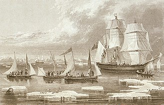 John Ross (Royal Navy officer) - The crew of the Victory is saved by the Isabella, 1834