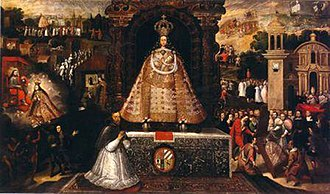 Cusco School - The Virgin of Bethlehem of the city of Cusco, 17th century. Currently painting located in Cusco