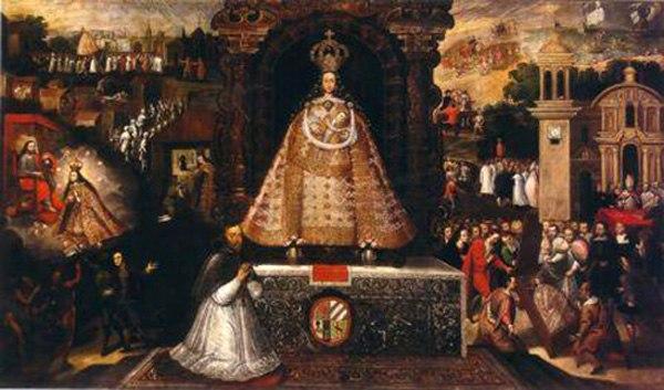 The Virgin of Bethlehem in the city of Cusco. 17th century