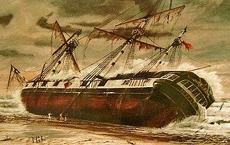 HMS Buffalo (1813) - The Wreck of the H.M.S. Buffalo, by G. Jackson