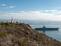 The aircraft carrier USS Ronald Reagan (CVN 76) travels in the Pacific Ocean off the coast of Coronado, Calif., Dec. 4, 2013 131204-N-HN991-023.jpg