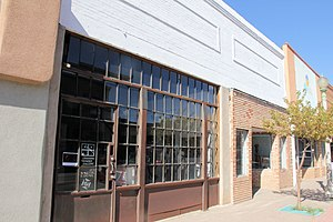 National Register of Historic Places listings in McKinley County, New Mexico - Image: The former Chief Theater, now the Crashing Thunder Gallery