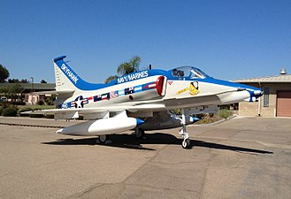 Flying Leatherneck Aviation Museum - Image: The last production A 4 Skyhawk on display at the Flying Leatherneck Aviation Museum in July 2012