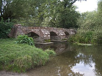 River Blythe - The old Packhorse Bridge, south of Hampton-in-Arden, crossing the River Blythe