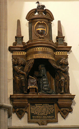 Jesus College, Oxford - Monument to Sir Eubule Thelwall, 1630, in Jesus College Chapel, Oxford.