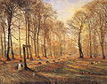 Theodor Philipsen - A Late Autumn Day in Dyrehaven, Sunshine.JPG