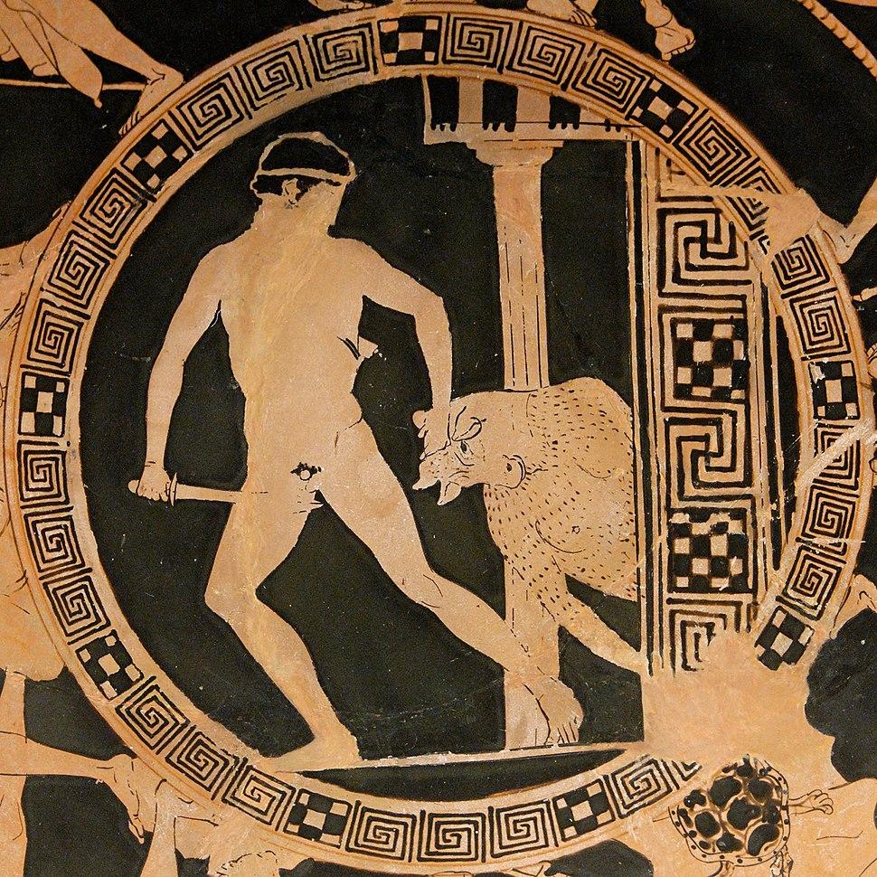 Theseus Minotaur BM Vase E84