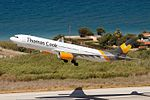 Thomas Cook Airlines Scandinavia Airbus A330-343 (OY-VKG) takes off at Rhodes.jpg