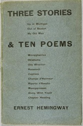 Three Stories and Ten Poems - Image: Three Stories and Ten Poems, cover