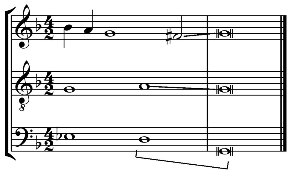 Three voice clausula vera from Palestrina