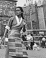 Tibetan woman in the Netherlands protesting the occupation of Tibet in Dam Square, Amsterdam on 26 July 1989, from- Protest op de Dam in Amsterdam van Tibetanen tegen de Chinese bezetting van Tibe, Bestanddeelnr 934-4865 (cropped).jpg