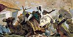Tiepolo, Giovanni Battista - Fresken im Treppenhaus des Würzburger Residenzschlosses, Szenen zur Apotheose des Fürstbischofs, Detail Allegory of the continent of Africa - Allegory of the continent of Africa - Men with camels.jpg