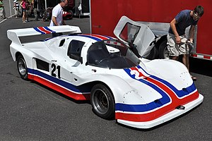 Tiga Race Cars - Image: Tiga GT Mont Tremblant paddock