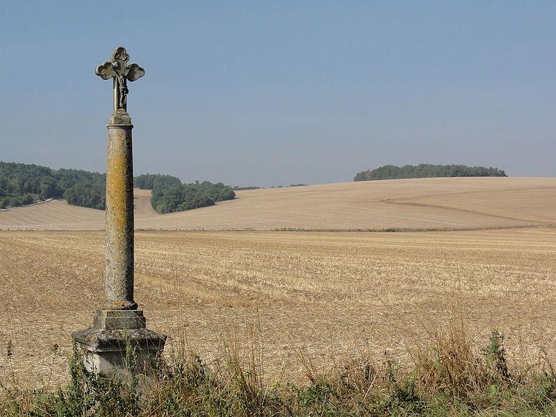 Tilly-sur-Meuse (Meuse) croix de chemin nord