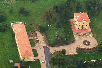 Tiszacsege - Tiszacsege - Palace from above