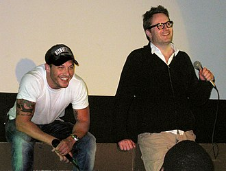 Tom Hardy - Hardy and Nicolas Winding Refn promoting Bronson in 2009