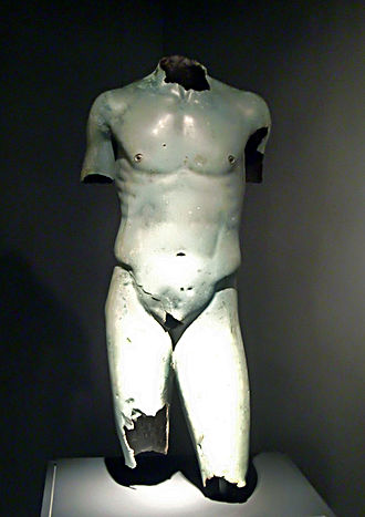 Colchis - Second century BC Greek bronze torso from Colchis, Georgian National Museum