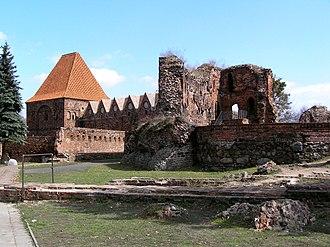 Medieval Town of Toruń - Image: Torun zamek krzyz