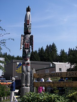 Totem pole in Ketchikan, Alaska