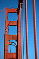 Tower and cables of the Golden Gate bridge in San Francisco 64.jpg