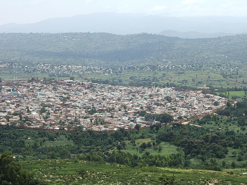 File:Town of Harar with Citywall.jpg