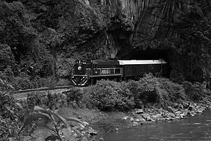 Peru - Train and Tunnel / The train from Machu...