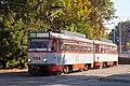 Tram in Sofia in front of Tram depot Banishora 006.jpg