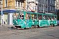 Tram in Sofia near Central mineral bath 2012 PD 068.jpg