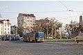 Tram in Sofia near Russian monument 067.jpg