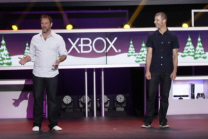 South Park: The Stick of Truth - South Park creators Trey Parker (left) and Matt Stone discussing the game during Electronic Entertainment Expo 2012. The pair were directly involved with the development of The Stick of Truth to maintain the authenticity of the show.