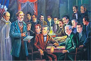 Unification of Hispaniola - La Trinitaria meeting.