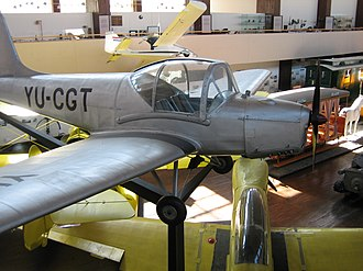 Utva Trojka - A Utva Trojka on display at the Technical Museum in Zagreb