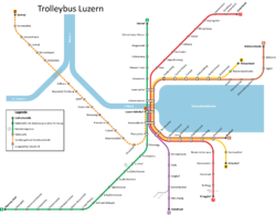 The Lucerne trolleybus system, 2012.
