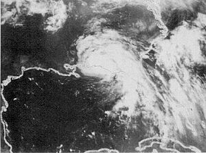 Climate of Georgia (U.S. state) - Tropical Storm Alberto (1994) moving into Georgia