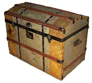 English: A trunk used by immigrants from Swede...