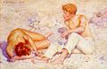 Tuke, Henry Scott (1858–1929) - 1909 - Two boys on a beach (A study in bright sunlight).jpg