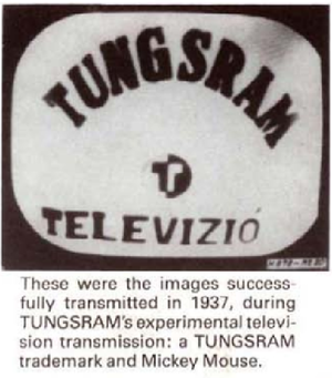 Tungsram - Tungsram television prototype in 1937
