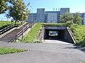 Tunnel und Treppe, Balatoni Straße, 2020 Zalaegerszeg.jpg