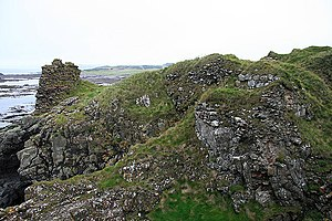 Robert the Bruce - The remains of Turnberry Castle, Robert the Bruce's likely birthplace